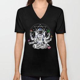 Psychedelic Astronaut Psychonaut  Unisex V-Neck