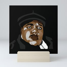 Biggie smalls ,the notorious big rapper vintage old school tee Mini Art Print