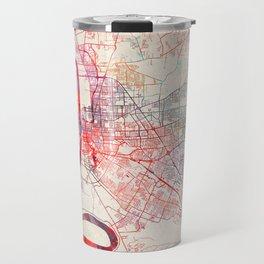 Baton Rouge map Louisiana painting square Travel Mug
