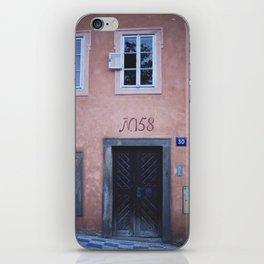 Pink House in Prague iPhone Skin