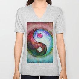 Yin Yang - Colorful Painting IV Unisex V-Neck