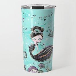 Audrey Mermaid Pattern 10 Travel Mug