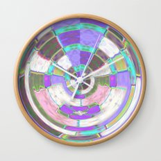 Glass Block Abstract Wall Clock