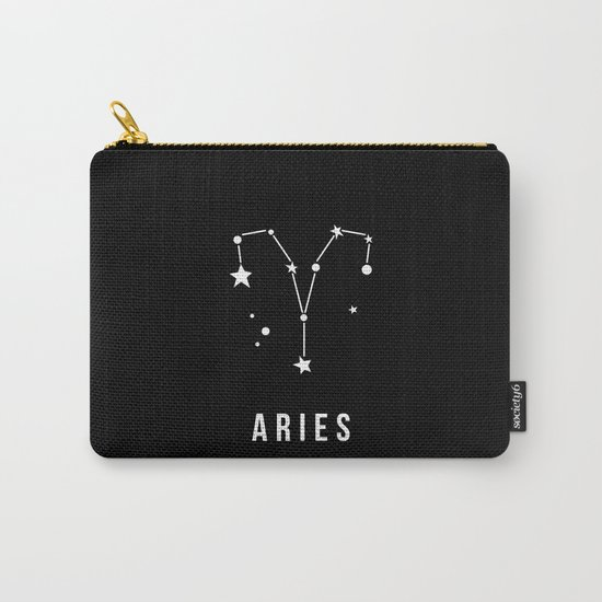Aries Zodiac Sign Quote Carry-All Pouch