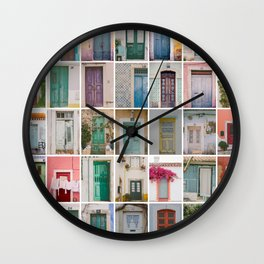 Door Collection Wall Clock