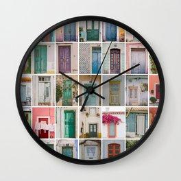 Travel Door Collection Wall Clock