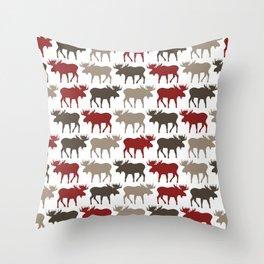 Moose Promenade Throw Pillow