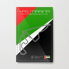 Yas Marina Racetrack Metal Print