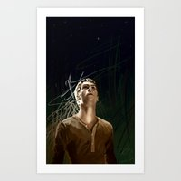 maze runner Art Prints featuring The Runner by little_bird