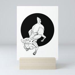 Up the Rabbit Hole Mini Art Print