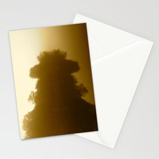 foggy reflections in sepia Stationery Cards