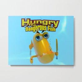 Hungry! The Dangerous Fish! Metal Print