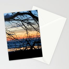 Tree Silhouette Against the Sunset Stationery Cards