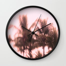 Palms swirling around Wall Clock