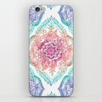 rainbow iPhone & iPod Skins featuring Indian Ink - Rainbow version by micklyn
