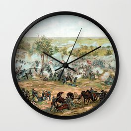 Battle Of Gettysburg -- American Civil War Wall Clock