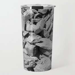 Concrete Bricks - Black & White Travel Mug