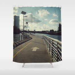 river walkin' Shower Curtain