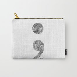 Patterned Semicolon #2 Carry-All Pouch