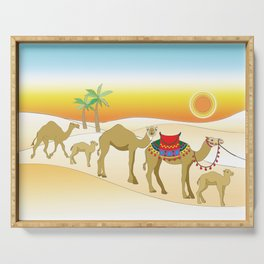 Exodus, Camels in the Desert, Passover Serving Tray