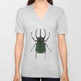 Atlas Beetle Insect Digital Watercolor Unisex V-Neck