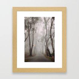 Into the fog Framed Art Print