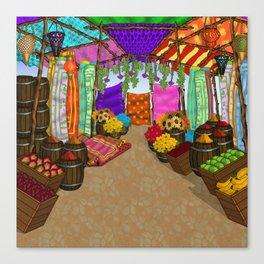 At The Bazaar Canvas Print