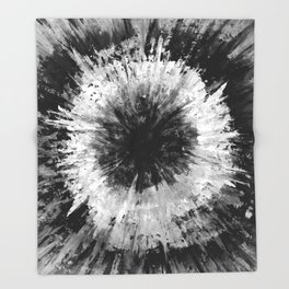 Black and White Tie Dye // Painted // Multi Media Throw Blanket