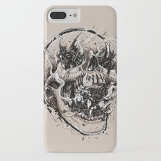 skull with demons struggling to escape iPhone 7 Plus Slim Case