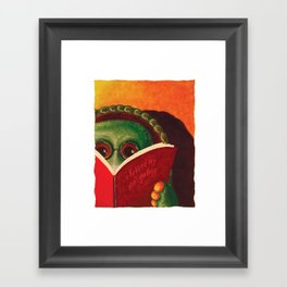 Kiss My Shell Goodbye Framed Art Print