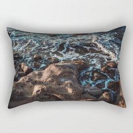 The foamy sea meets the shore Rectangular Pillow