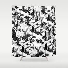 City Repeat Shower Curtain