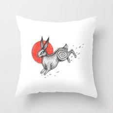 The Black Rabbit of Inlé Throw Pillow