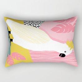 FeelFree - memphis throwback retro bird tropical nature animal parrot cockatoo 1980s 80s pop art Rectangular Pillow