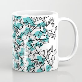 Oddgon and Angular Cluster in Turquoise Coffee Mug