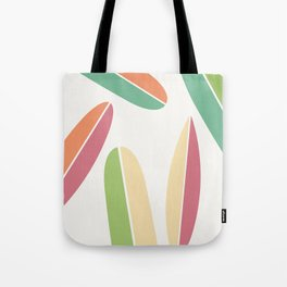 Abstract Retro Color Surfboards Tote Bag
