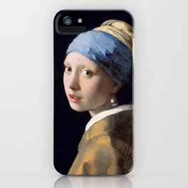 Girl with a Pearl Earring, Johannes Vermeer, 1665 iPhone Case