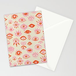 Mystic Eyes – Pink & Red Stationery Cards