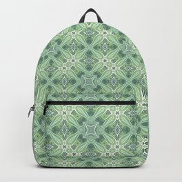 turquoise kaleidoscope pattern Backpack