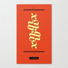 Type Foundry - Georgia Bold Italic Canvas Print