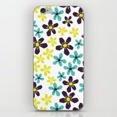 Yellow and Blue Flower iPhone & iPod Skin