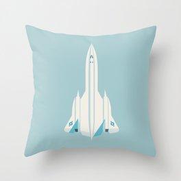 SR-71 Blackbird Supersonic Jet Aircraft - Sky Throw Pillow