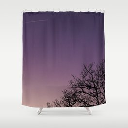 A bare tree in the sunset. Shower Curtain