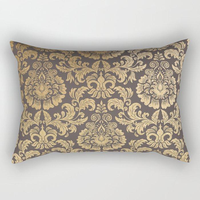 Gold swirls damask #8 Rectangular Pillow