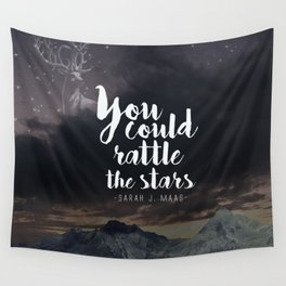 You could rattle the stars (stag included) Wall Tapestry
