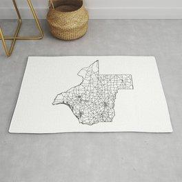 Texas White Map Rug