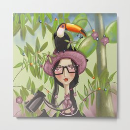 Birdwatcher Metal Print
