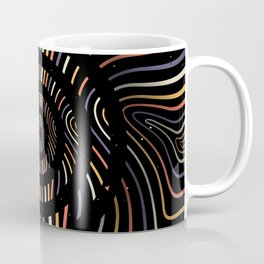 Color op art striped lines with circles Coffee Mug