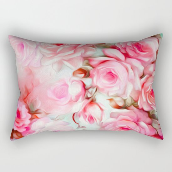 Shabby Chic Pink Rectangular Pillow