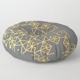Geometric Gold Floor Pillow